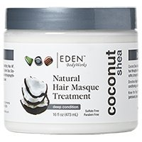Natural Coconut Shea Hair Masque Treatment - Safe for Color