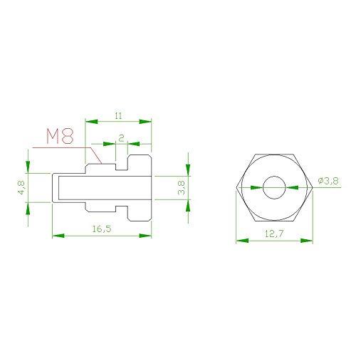 (NTC 10k Temperature Sensor Probe Cable Wire for Temp Controller Thermistor)