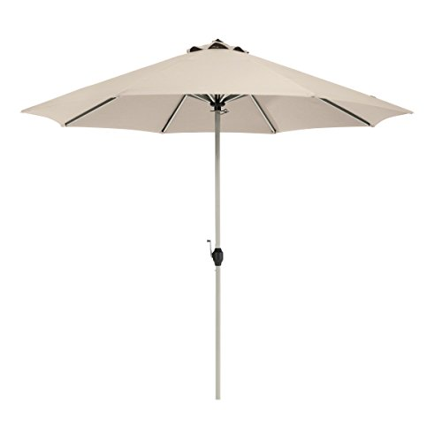 Classic Accessories Montlake FadeSafe 9-Foot Round Aluminum Patio Umbrella, Antique Beige