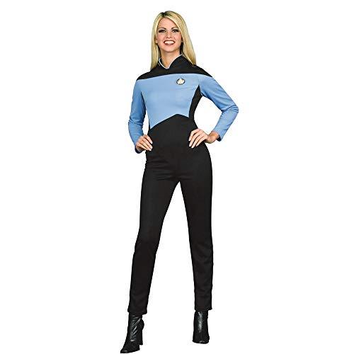 (Rubie's Women's Star Trek The Next Generation Deluxe Science Uniform Jumpsuit, Blue)