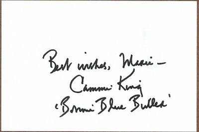 Cammie King, GWTW Actress, Bonnie Blue-Belle, Signed Card, COA