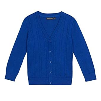 8b209fa7219 Debenhams Kids Girls  Blue Cable Knit School Cardigan  Debenhams ...