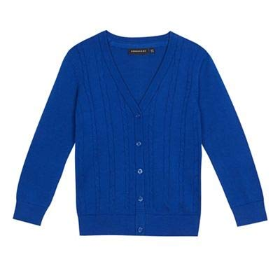 Debenhams Kids Girls' Blue Cable Knit School Cardigan