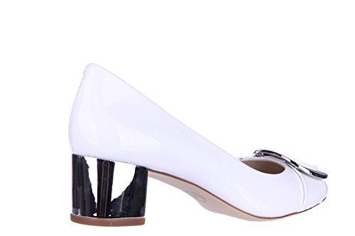 Michael Kors escarpins chaussures femme à talon en cuir blanc