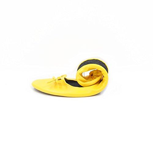 Dames Heureux Pieds Se Replient Chaussures - Ballerines Pliable Différentes Tailles Et Couleurs Disponibles Jaune