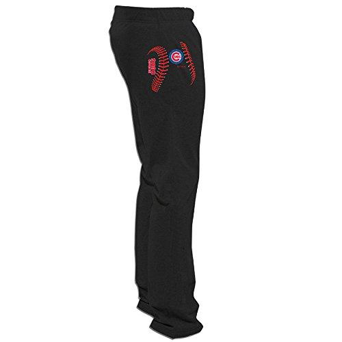 (ElishaJ Men's Chicago Sport Baseball Team Funny Training Sweaterpant Black 3X)