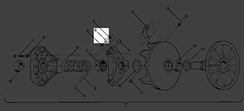 Polaris Sportsman 500 Sport Roller/Bushing 3 1321457 New Oem