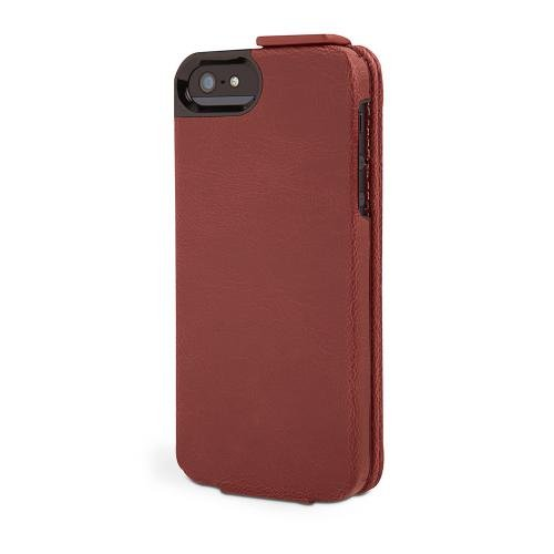 Kensington K39606WW Portafolio Flip Wallet Case for iPhone 5 - 1 Pack - Carrying Case - Retail Packaging - Maroon, Marble Accents - Kensington Desktop Lock