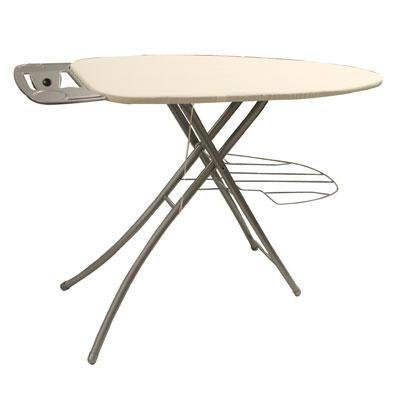 Homz Professional Ironing System, 48.5 x 18.3 x 39.2 Inches, Platinum Leg with Khaki Cover