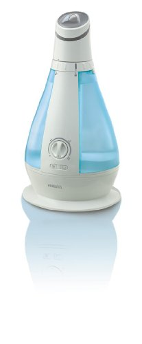 HoMedics Oscillating Cool Mist Ultrasonic Humidifier - 120 Degree Motorized Osciliation, 1 Gallon, Runs up to 48 hours, Adjustable Mist Control, Built-in Night Light, UHE-OC1
