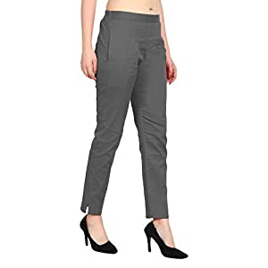 SriSaras Women's Slim Fit Casual Trouser