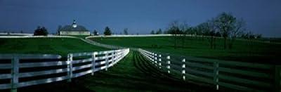 USA Kentucky Lexington horse farm Poster Print