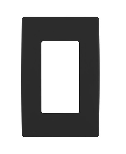 Leviton REWP1-OB Renu One-Gang Screwless Snap-On Wallplate, Onyx Black