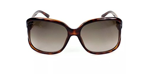 Gucci Women's Sunglasses GG3646 DWJ Havana/Brown Gradient Lens Oval - Shades White Gucci
