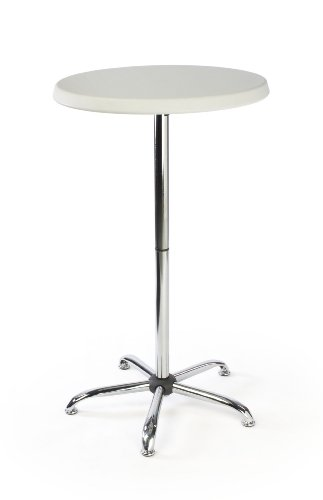 Displays2go 47-Inch Tall Round Pub Table with Plastic Top (FOLDR2646) ()