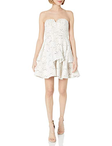 My Michelle Sequin Hearts Junior's Prom Dress, Ivory Nude, 3