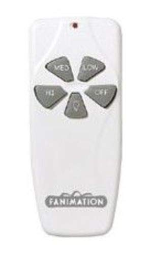Fanimation C4 Remote Control Fan & Light 3-Speed/Non-Reversible, White