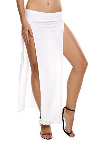 SFY Popular Trends High Waist Double Slits Sexy Women Maxi Skirt Double Slit Skirt
