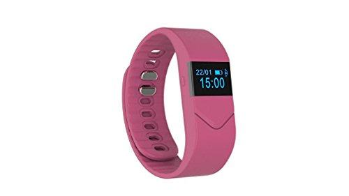 Heart Rate Blood Oxygen Blood Pressure Men & Women Sleep Monitor Pedometer Watch , pink by GJX