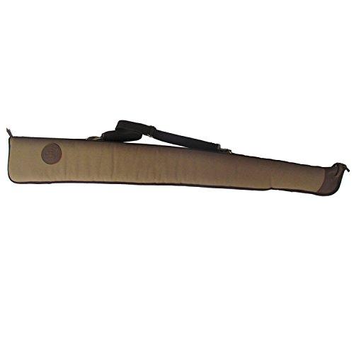 Tourbon Hunting Shooting Shotgun Gun Case Bag (Canvas and Leather , 48-inch )