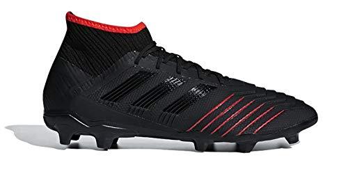 (adidas Predator 19.2 FG Football Boots - Adult - Black/Black/Red - UK)