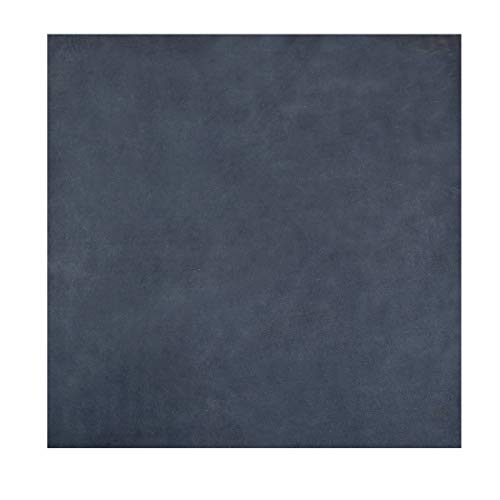 Leather Square (12 x 12 in.) for Crafts/Tooling/Hobby Workshop, Medium Weight (1.8mm) by Hide & Drink :: Blue Suede