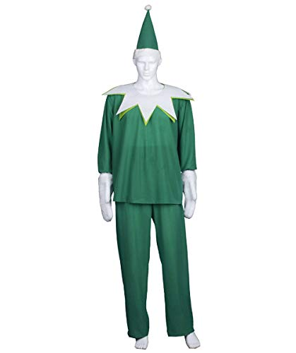 Adult Men's Green Elf On The Shelf Costume HC-696