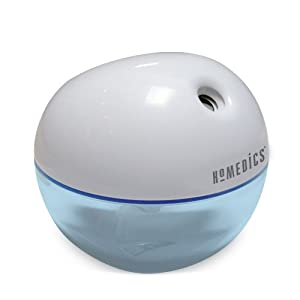 Homedics Personal Cool Mist Ultrasonic Humidifier - Portable and Travel Friendly, Plugs into USB or wall outlet, 200ml Reservoir, Runs up to 4 hours, HUM-CM10