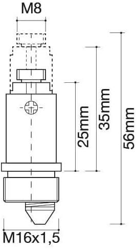 Mecanismo muelle valvula CLIC CLAC 25mm
