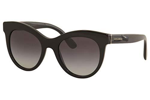 Dolce and Gabbana DG4311 501/8G Black DG4311 Cats Eyes Sunglasses Lens ()