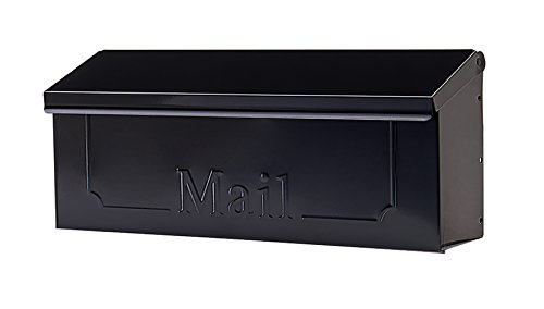 Gibraltar Mailboxes Townhouse Small Capacity Galvanized Steel Black, Wall-Mount Mailbox, THHB0001 ()
