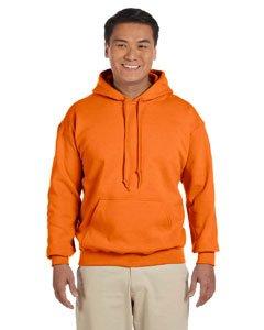 Gildan G125 DryBlend Adult Hooded Sweatshirt, Safety Orange, Medium