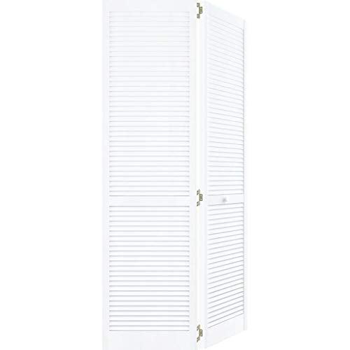 Closet Door, Bi-fold, Kimberly Bay Traditional Louver-Louver White (80x30)