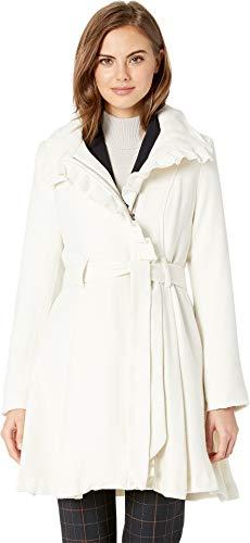 Wool Ivory Jacket Blend (Steve Madden Womens Winter Wool Blend Basic Coat Ivory S)