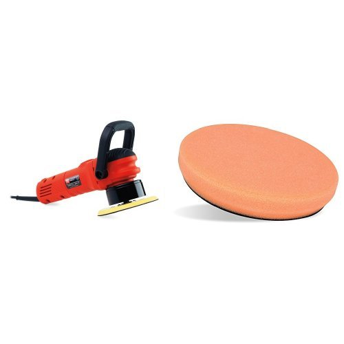 "Griot's Garage 10813LNGCRD 6"" Random Orbital Polisher with 6.5"" Orange Foam Correcting Pad"