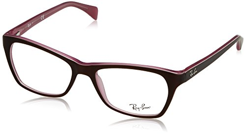 Ray-Ban Women's RX5298 Eyeglasses Top Matte Brown On Opal Pink 53mm by Ray-Ban