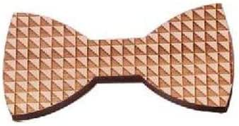 Unisex thick magnetic wooden bow tie