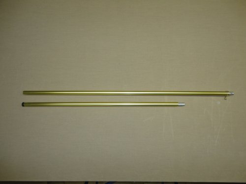Gold Anodized Style 71-G Color Guard Parade Indoor Display Aluminum 2-piece Flagpole 7' X 1