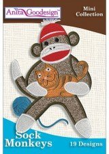 (Anita Goodesign Mini Collection - Sock Monkeys ~ Embroidery Designs)
