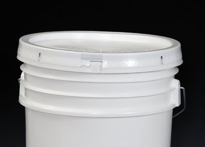 (2-Gallon Tamper-Evident High Density Plastic Pail Lid with Tear Tab - White (1 Lid) - AB-358-56W)