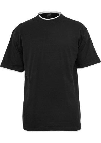 Urban Classics Men's TB029A Contrast Tall T Shirt Short Sleeve T Shirt XXL Blk/Wht