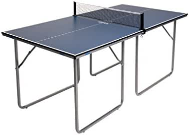 JOOLA Midsize Compact Table Tennis Table Great for Small Spaces and Apartments – Multi-Use Free Standing Table - Compact Storage Fits in Most Closets - Net Set Included