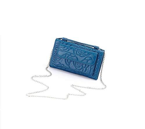 Vêtements Hangbag Blue Fleurs Messenger Femmes Décontractés Sac Générique Cuir Shopping Mode gwqU4ZnxX