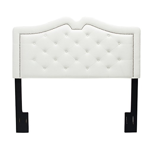Tongli Upholstered Headboard Button-Tufted Sweetheart Adjustable Headboards Nailhead for (Full Nail Button Headboard)