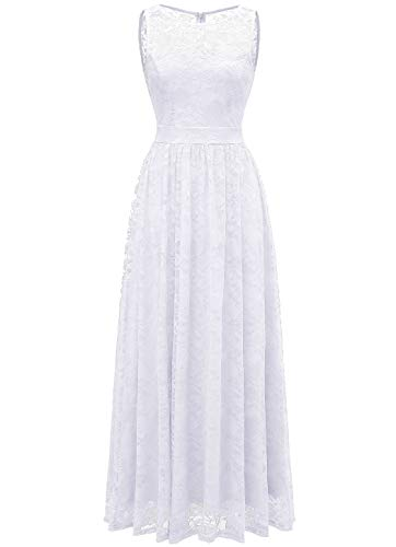 Wedtrend Women's Floral Lace Long Bridesmaid Dress Party GownWTL10007B-IvoryS (Dress Ivory Floral)
