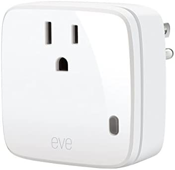 Eve Energy - Smart Plug & Power Meter with built-in schedules, switch a  connected lamp or device on & off, voice control, no bridge necessary,  Bluetooth Low Energy (Apple HomeKit): Buy Online
