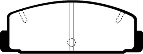 Ebc Brakes 03-04 Mazda Protege 2.0 Turbo (Mazdaspeed) Greenstuff Rear Brake Pads (Mazdaspeed Protege Brakes)
