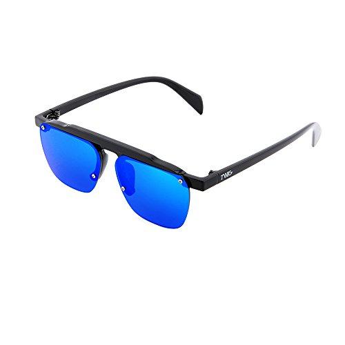 mujer hombre Azul FOUCAULT degradadas Negro espejo Gafas TWIG de sol wqTRFR