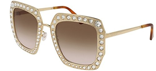 Sunglasses Gucci GG 0115 S- 002 GOLD / BROWN