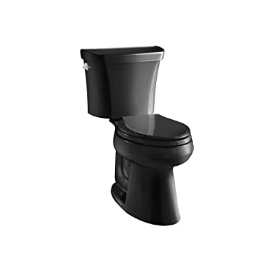 KOHLER Wellworth Highline Two-Piece Dual-Flush Elongated Toilet with Class Five Flush System and Left-Hand Trip Lever